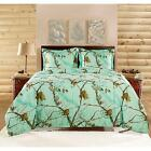 Realtree Brights Bedding Comforter Set Twin Full Queen King Size Sham White Red
