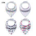 4pcs Infant Baby Cotton Unisex Feeding Saliva Towel Dribble Triangle Bandana Bib