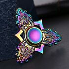 Dragon Head Rainbow EDC Alloy Metal Tri Hand Finger Spinner Fidget Desk Toy Gyro