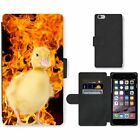 Phone Card Slot PU Leather Wallet Case For Apple iPhone ducklings wildfire