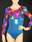 STUNNING LEOTARD/GYMNASTICS/DANCE - LONG SLEEVES - NEW - GIRLS  6, 8, 10, 12 !!!