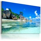 PARADISE BEACH , View Canvas Wall Art Picture Large SIZES  L184  X