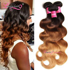 USPS Peruvian Ombre Body Wave Hair 1 or 3 Bundles T1B/4/27 Human Hair Extensions