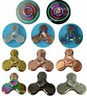 Bluetooth LED Metal Spinner Fidget Special Hand Finger Toy EDC ADHD Autism Gift