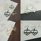 Fashion Gold/Silver/Black Drop/Dangle Heart Ear Earrings Hook Women Lady Jewelry