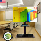 Floor TV Stand Flat Panel Mount 2T DVD Cable Box Shelf for 32-60