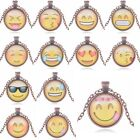 Hot Sale Women Girl Smile QQ Emoji Expression Round Pendant Necklace Jewelry
