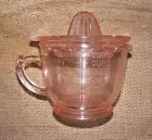 Measuring Cup Juicer Pink Reproduction Depression Glass Lemon Lime Reamer #505P