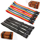 4-pack of 1.9m Luggage Straps, Heavy Duty Webbing & 50mm Buckle