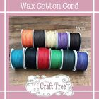 Wax Cotton Cord Twine String 1mm - 10 Metre