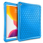 """For iPad 6th 9.7"""" 2018 / 2017 iPad Air Honey Comb Silicone Case + Foldable Stand"""