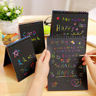 Kids Colorful Rainbow Paper Scratch Art Graffiti Books Drawing Doodle Pad Toys L