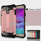 New Hybrid Hard Impact Rugged Combo Case Shell Cover for Samsung Galaxy Note 4