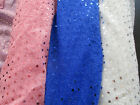 Sequin Material Nylon Polyester Fabric Fancy Dress white , pink or royal