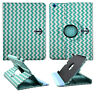 Black Anchor  Blue  Chevron For Apple ipad 2 / 3 / 4 360 Rotat Case Cover Stand