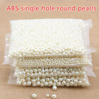 6/8/10/12mm Faux Pearl Cream Acrylic Round 1 Hole Pendants Beads Jewelry Making