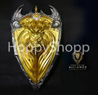 1:1 WOW World of Warcraft The Alliance Gold Lion Shield Larp For Cosplay