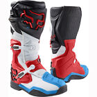 FOX RACING MENS ADULT SIZE 12 RED / WHITE COMP 8 MOTOCROSS MX ATV BOOTS RIDING
