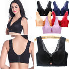 Ladies Push Up Bra Flroal Lace Wireless Deep V Bralet Lingerie  34-48 CD DDE