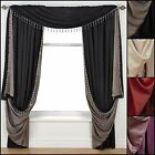 Faux Silk Beaded Reversible Slot Top Curtain and Accessories Range