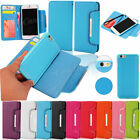 Lichee Leather Magnetic Removable Wallet Card Flip Case Cover For Various Phones
