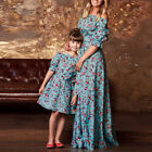 Family Dress Mother and Daughter Matching Floral Womens Maxi Long Party Dresses