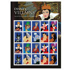 USPS New Disney Villains Full Pane of 20