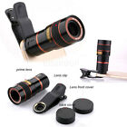 Clip-on 8x 12x Optical Zoom HD Telescope Camera Lens For Universal Mobile Phone