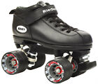 Riedell Dart Vader Quad Roller Derby Speed Skate w/ 2 Pair of Laces Gray & Black