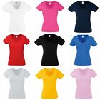 Fruit Of The Loom Ladies Lady-Fit V-Neck Short Sleeve T-Shirt