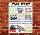 Star Wars TV Show Quotes METAL SIGN Yoda Jedi Birthday Gift Present