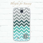 Personalized Green Chevron Phone case custom Monogram Case for Samsung S8 mn601