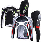 Pro Bike Jersey Long Sleeve Kits Outdoor Sports Cycling 4D Padded Pants Sets