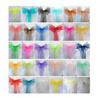 5pcs Organza Chair Cover Sashes Wedding Party Banquet Bow Decoration New EW