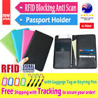 Travel Wallet RFID Blocking Passport Credit Card Holder Synthetic Leather Pouch