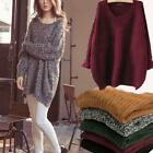 Women Long Sleeve Knitted Sweater Tops Loose Cardigan Outwear Coat Oversized NEW