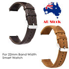 Genuine Leather Replacement Smart Watch Band Strap 22mm