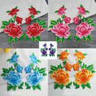 6PCS Embroidered Red/Pink/Purple/Blue/Yellow Floral Patch Iron on Appliques FT39