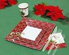 Christmas Disposable Dinnerware Paper Plates, Cups, Napkins & Cutlery 40 Guests