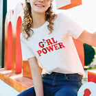 Girl Power Printed T-Shirt Women Summer Fashion Short Sleeve Top Tee Novelty