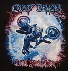 CRUSTY+DEMONS+OF+DIRT+NITRO+CIRCUS+GLOBE+OF+DEATH+FREESTYLE+MX+BLACK+T-SHIRT+XL