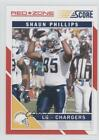 2011 Score Red Zone #244 Shaun Phillips San Diego Chargers Football Card $1.0 USD