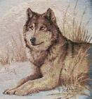 2 - GREY WOLF TAPESTRY FABRIC PANELS  MATERIAL Cushion Pillow Wall hanging