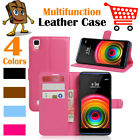 Leather Wallet Stand Folio Flip LSP Case  For LG X power / LS755 K450 K212 US610