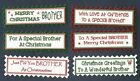 6 BROTHER CHRISTMAS Greeting Card Craft.Scrap Book Sentiment Greeting Banners