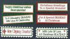 6 GRANDAD CHRISTMAS Greeting Card Craft Scrapbook Sentiment Message Banner Tags