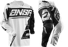 NEW ANSWER RACING SYNCRON AIR WHITE BLACK YOUTH RACE GEAR COMBO JERSEY PANTS