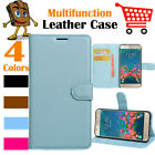 Leather Wallet Stand Folio LSP Case For Samsung Galaxy J327 / Express Prime 2
