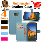 Leather Wallet Stand Folio Flip LSP Case For Samsung Galaxy S7 Active  SM-G891