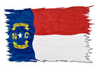 NC Flag Tattered  Printed Vinyl Decal Wall Auto Truck High Quality HD Sticker
